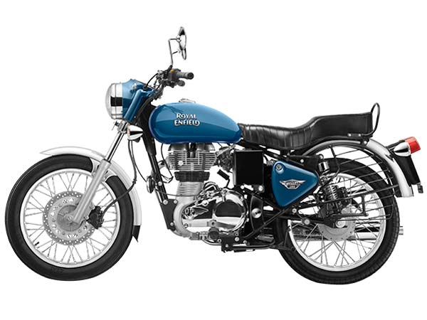 royal enfield bullet electra blue side profile