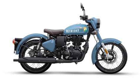 royal enfield select model airborne blue